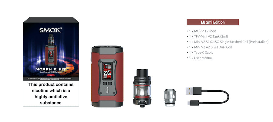 Smok Morph 2 Vape Kit | Packaging and Contents