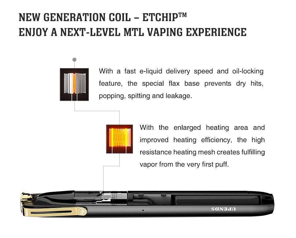 Uppen Pen with flax-based EtchipTM coil technology