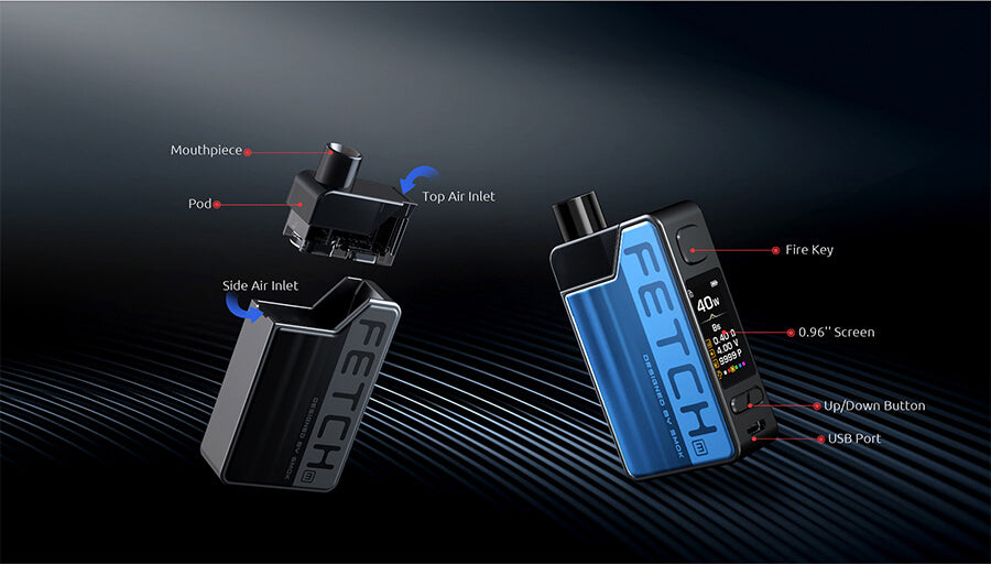 Components of the Smok Fetch Mini Kit