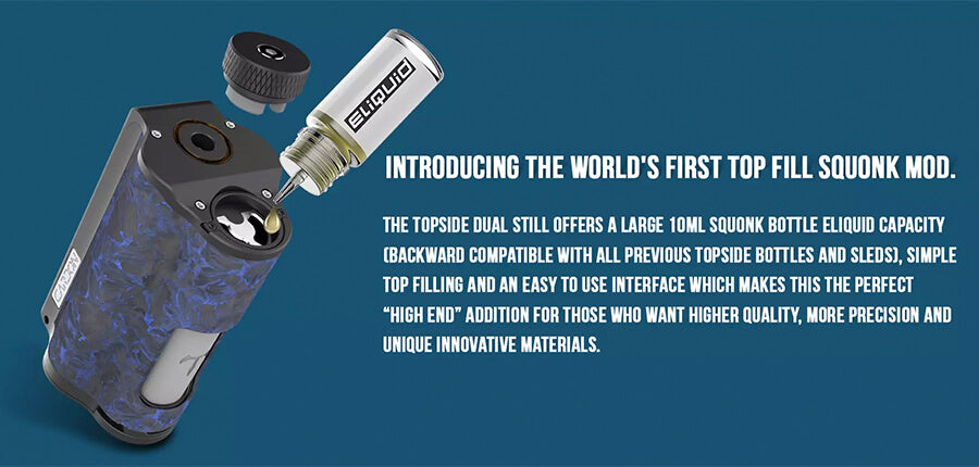Dovpo - Topside Dual Carbon - Dual 18650 Regulated Box Mod Top Filling