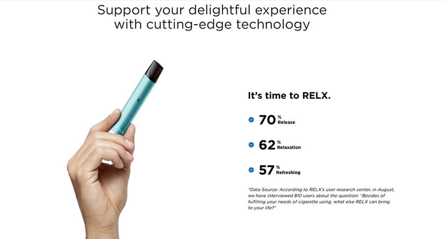 Relx offers to help crave your nicotine cravings