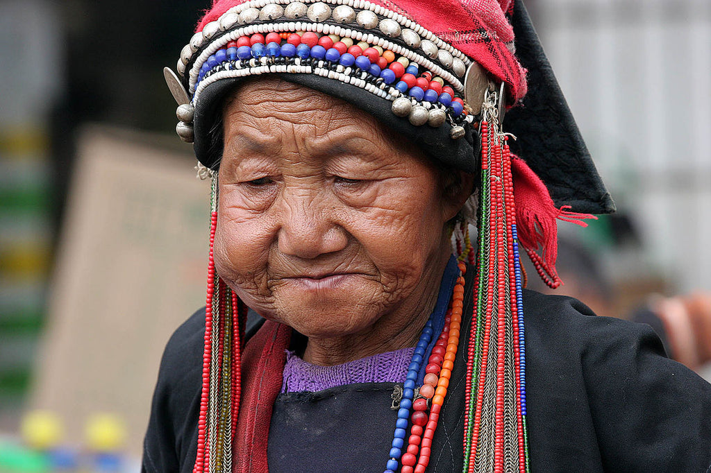 An Akha Woman in Xishuangbanna.