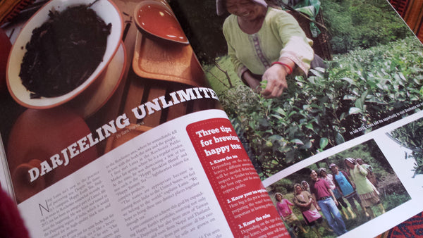 Photo of Darjeeling Tea Article in (585) Magazine