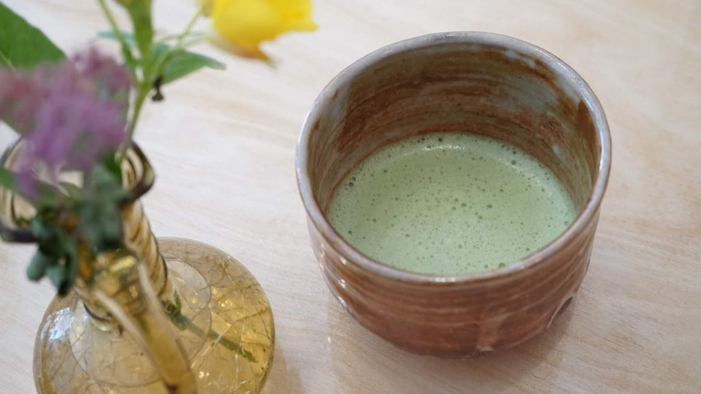 Bowl of matcha green tea