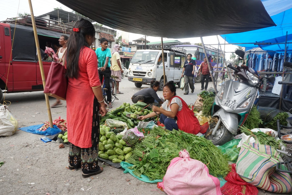 At street veggie stall in north Bengal