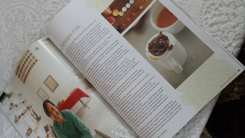 Photo of Happy Earth Tea Article in Rochester Magazine
