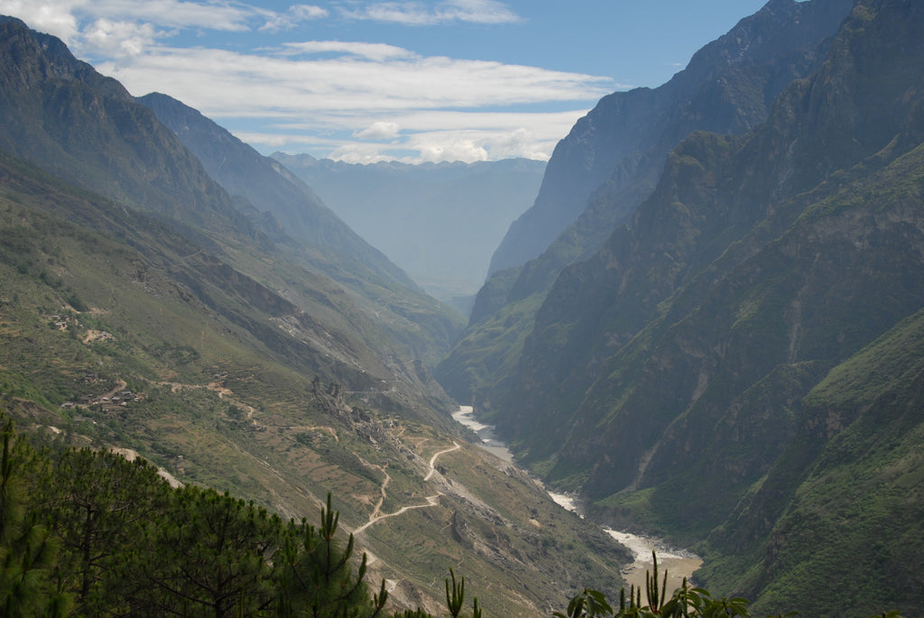 Leaping Tiger Gorge in Yunnan.