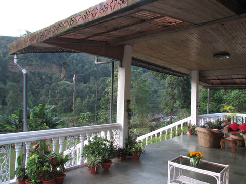 A view from the General Manager's bungalow. You can get a glimpse River Balason in the front.