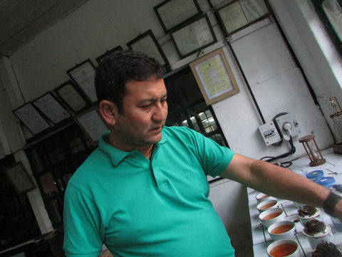 Yogdeep daju in the tasting room.