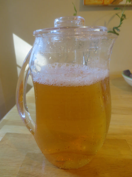 Pitcher of cold brew darjeeling tea