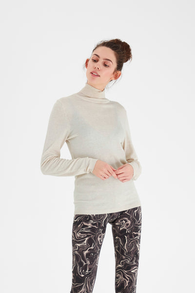 Isla Roll Neck Jumper (Oatmeal)