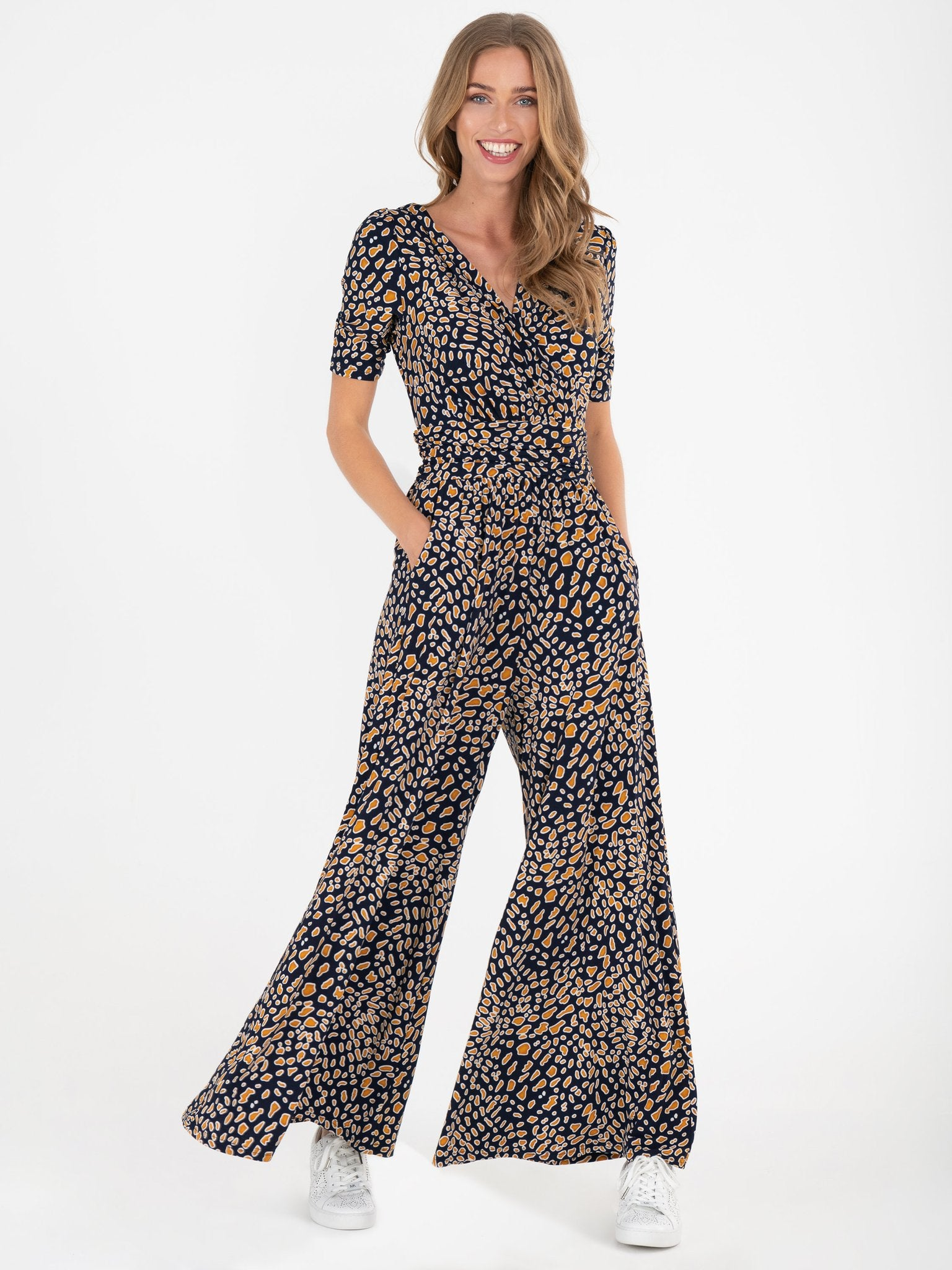 Bailee Wide Leg Jumpsuit (Brown)