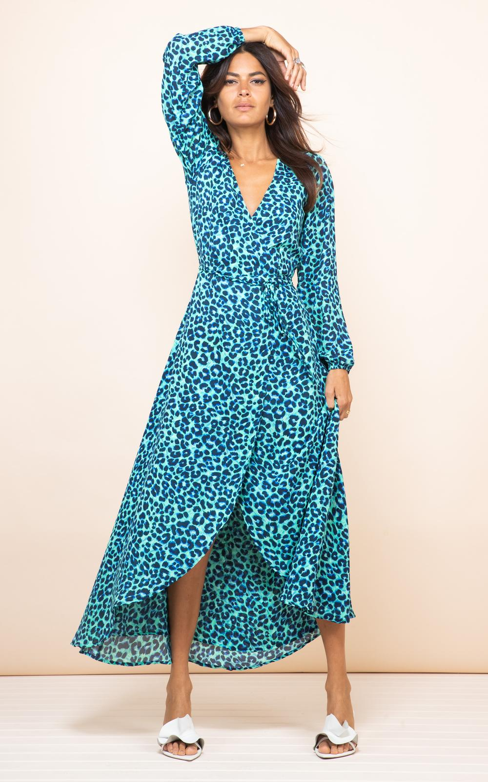 Turquoise Leopard Jagger Maxi Dancing Leopard