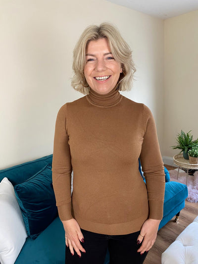 Lydia Polo Neck (Tan)