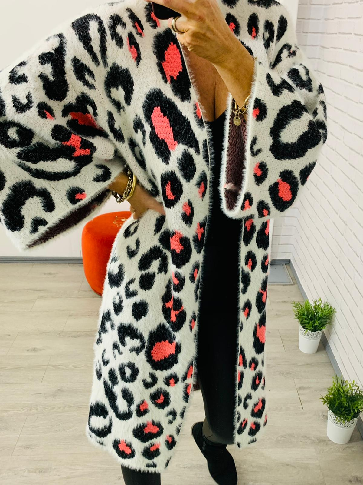 Bonnie Animal Print Cardigan