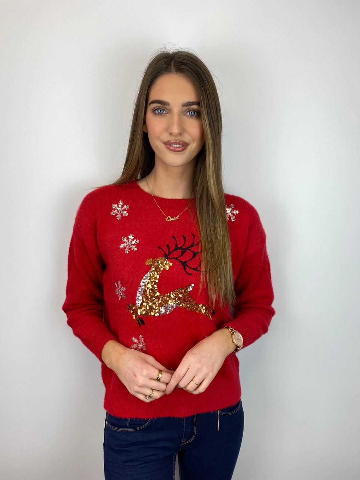 Rudolph Christmas Jumper (Red)