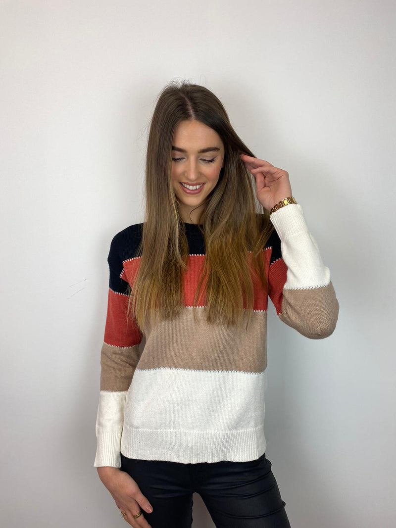 Carly Striped Knit Jumper