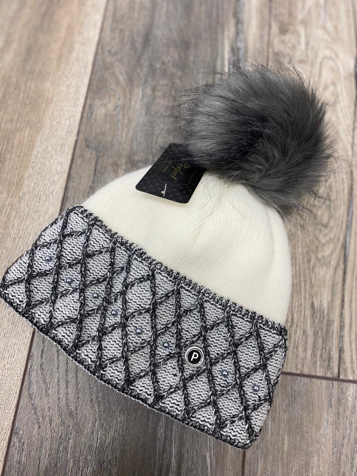 Cherith Hat & Snood Set (Grey)