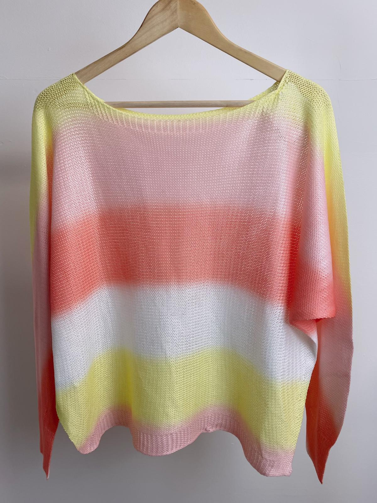 Peggy Batwing Ombre Top (Yellow)