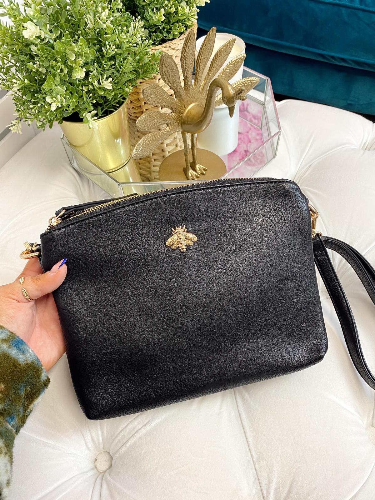 "Beatrice ""Bee"" Crossbody Bag (Black)"