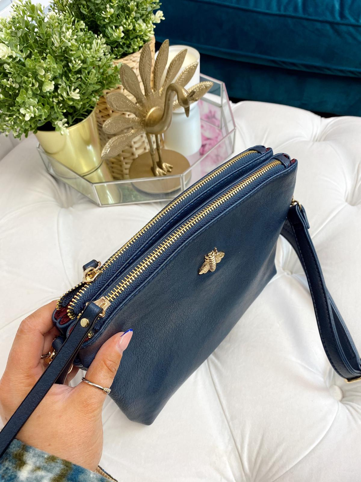 "Beatrice ""Bee"" Crossbody Bag (Navy)"