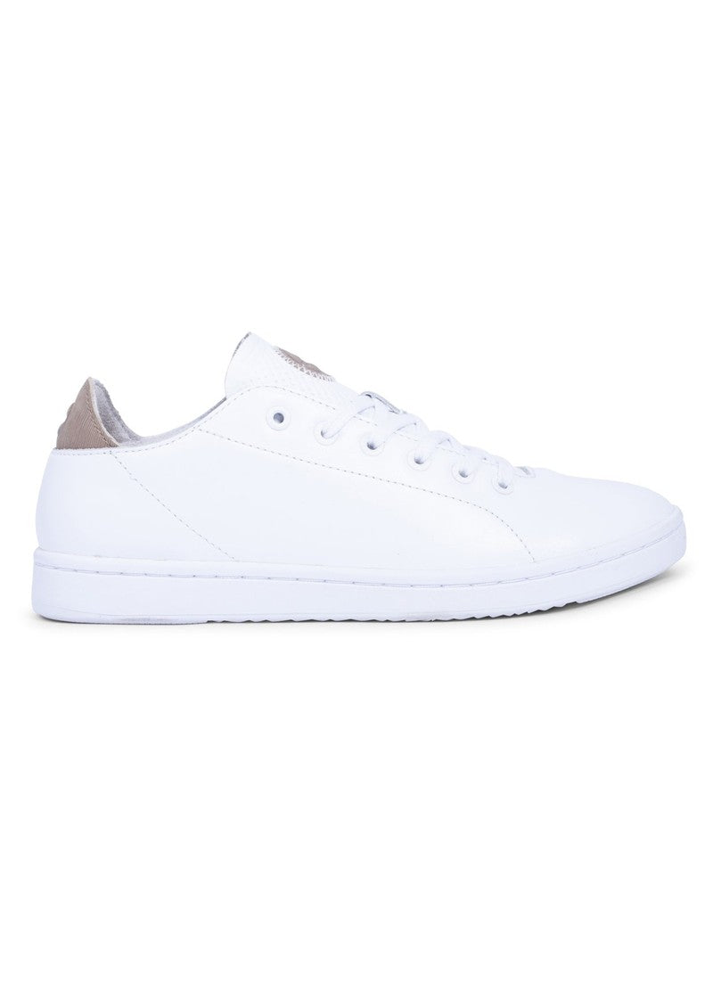 Jane White Leather Runners