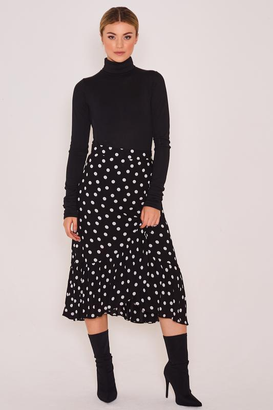 Sally Wrap Polka Dot Skirt