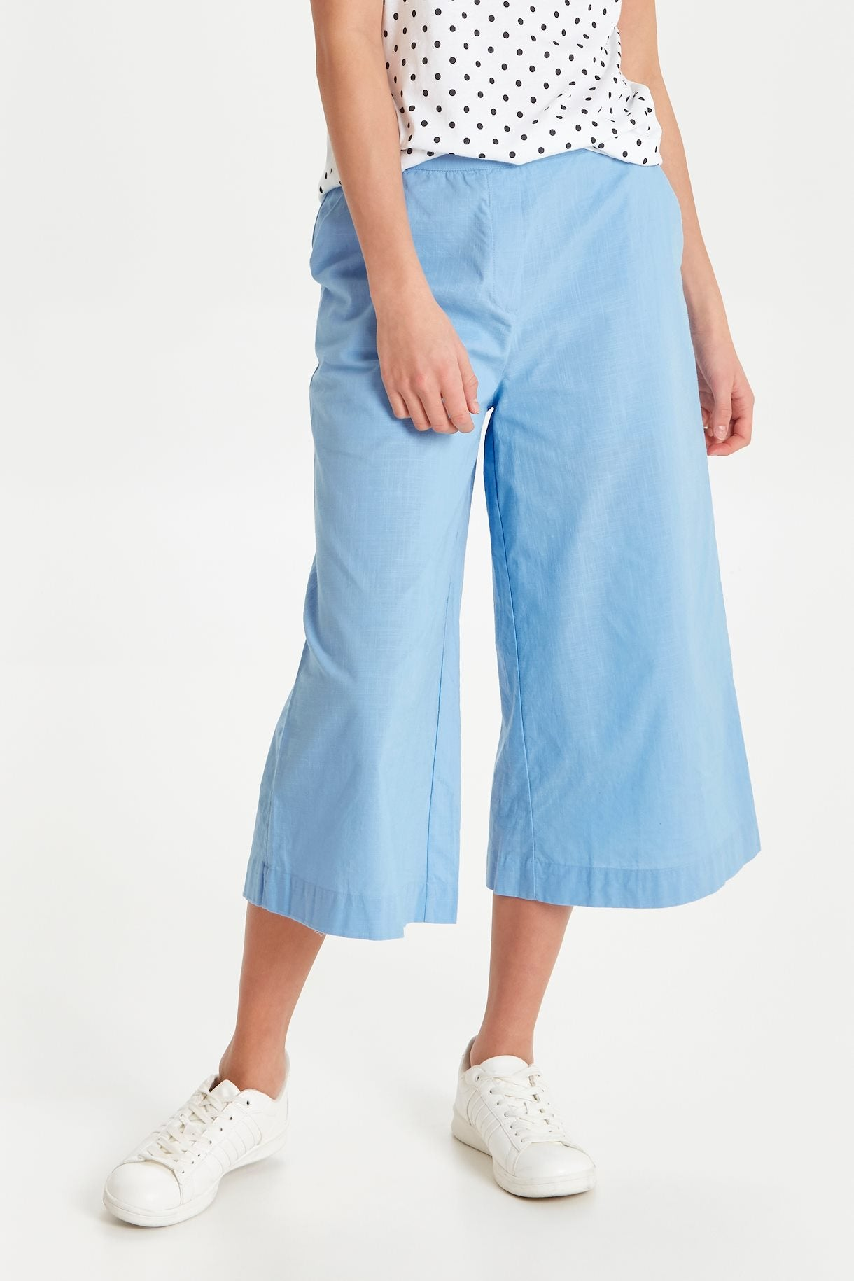 Blue Cropped Trouser