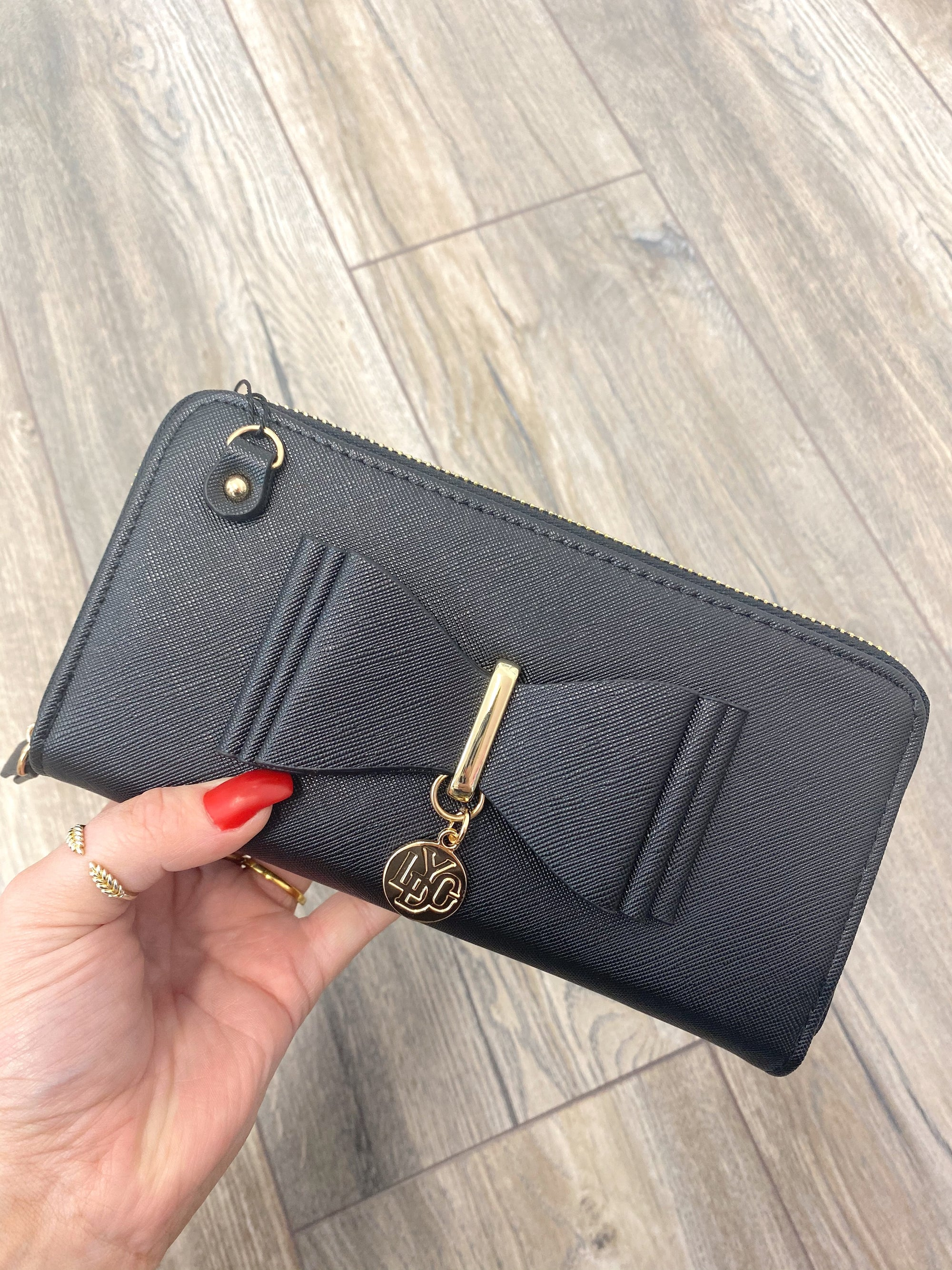 Bowie Clutch Purse (Black)