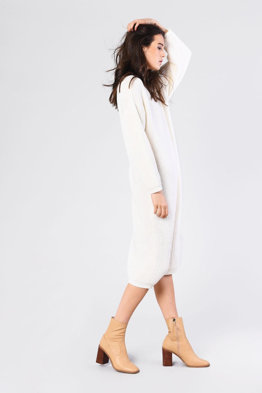 Lacie Jumper Dress (Off White)