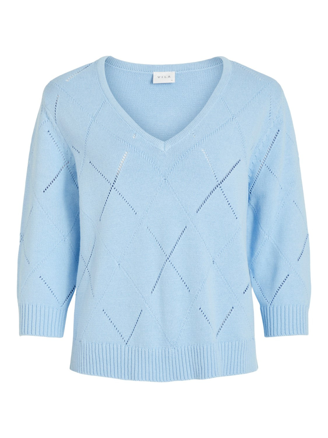Jackie V-Neck Jumper (Blue)