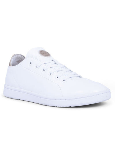 Jane White Leather Runners Woden