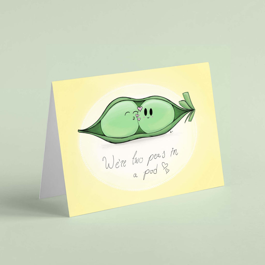We're Two Peas in a Pod - Greeting Card