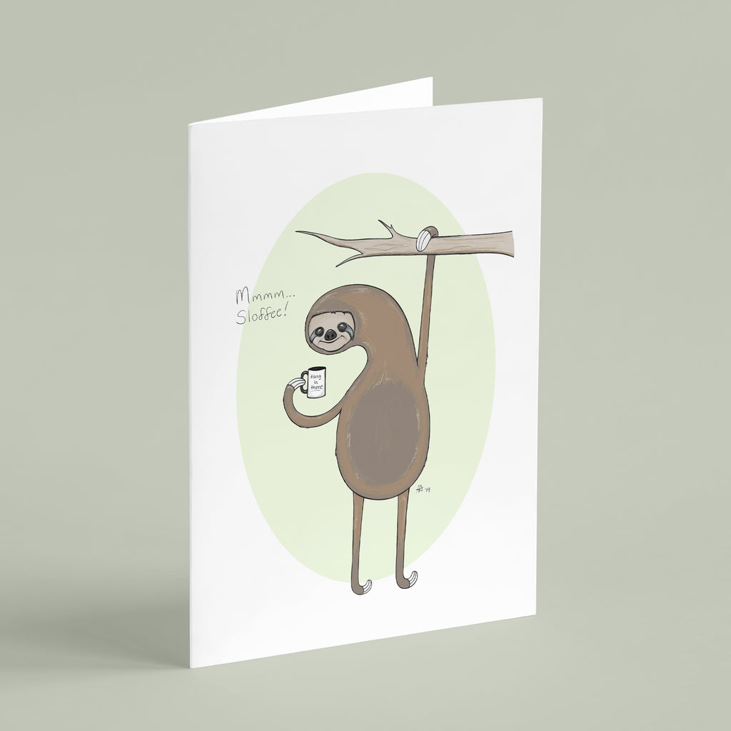 Mmm... Sloffee - Greeting Card