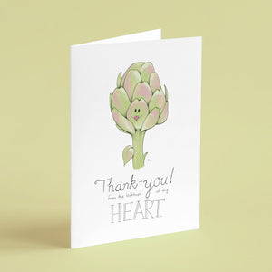 Thank-you! From the bottom of my heart. - Greeting Card