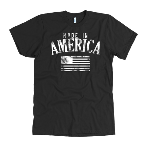 Made in America Distressed Tee