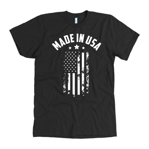 Made in USA Tee White