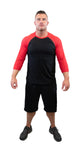 American Mayhem Baseball 3/4 Sleeve Red/Black