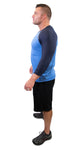 American Mayhem Baseball 3/4 Sleeve  Lake Blue/Blue