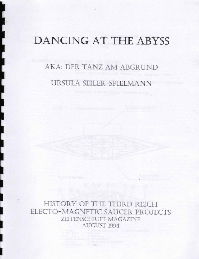 Dancing at the Abyss  AKA: Der Tanz Am Abgrund - History of the Third Reich electro-magnetic saucer projects