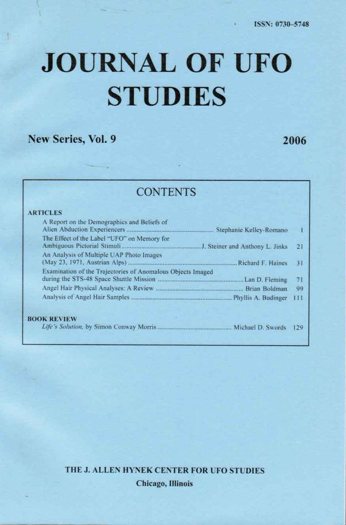 Journal of UFO Studies, New Series, Vol. 9