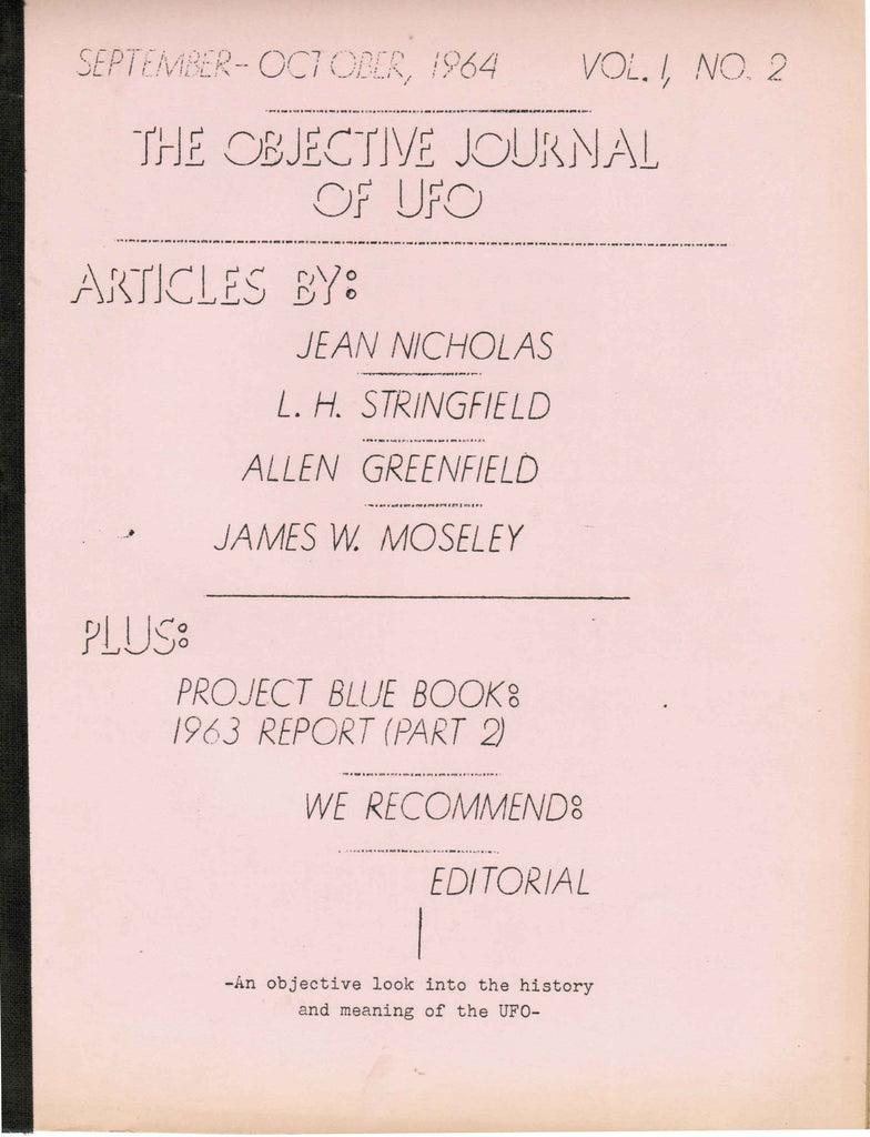 The Objective Journal of UFO - Vol. 1, No. 2, September-October, 1964