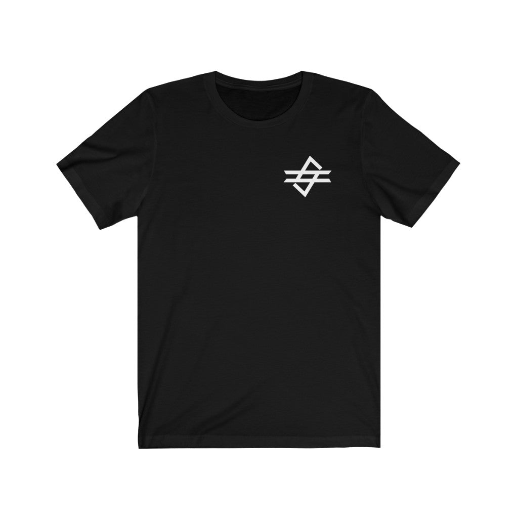 Code Gaming White Small Logo Short Sleeve Tee