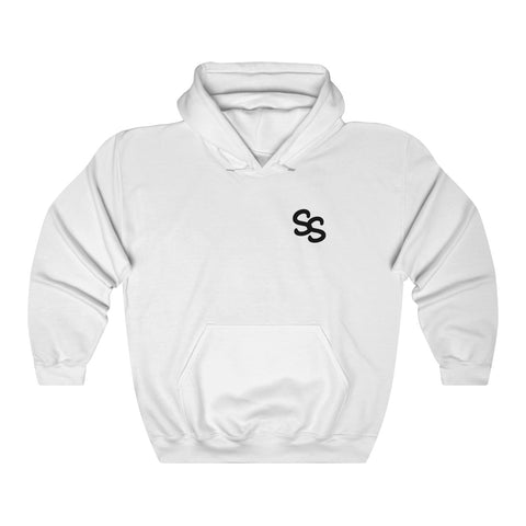 SS Clan Small Black logo Heavy Blend™ Hooded Sweatshirt