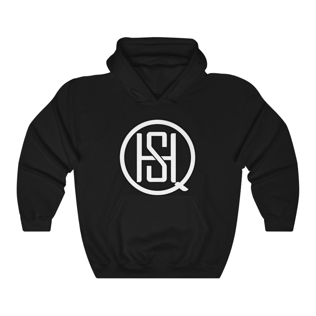 Custom SHQ White Logo Heavy Blend™ Hooded Sweatshirt