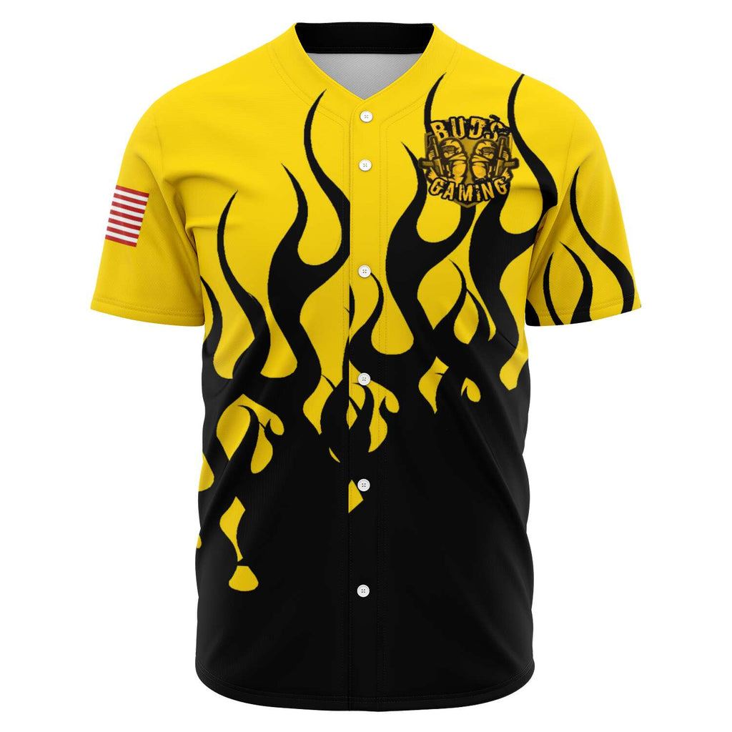 Buds Gaming Fire Baseball Jersey