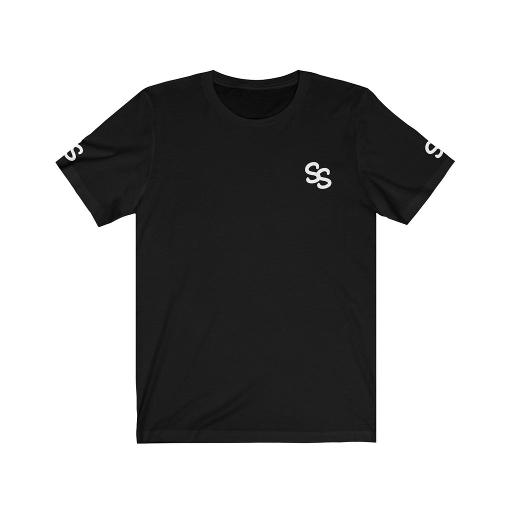 SS Clan Both Sleeves Front Logo White Jersey Short Sleeve Tee
