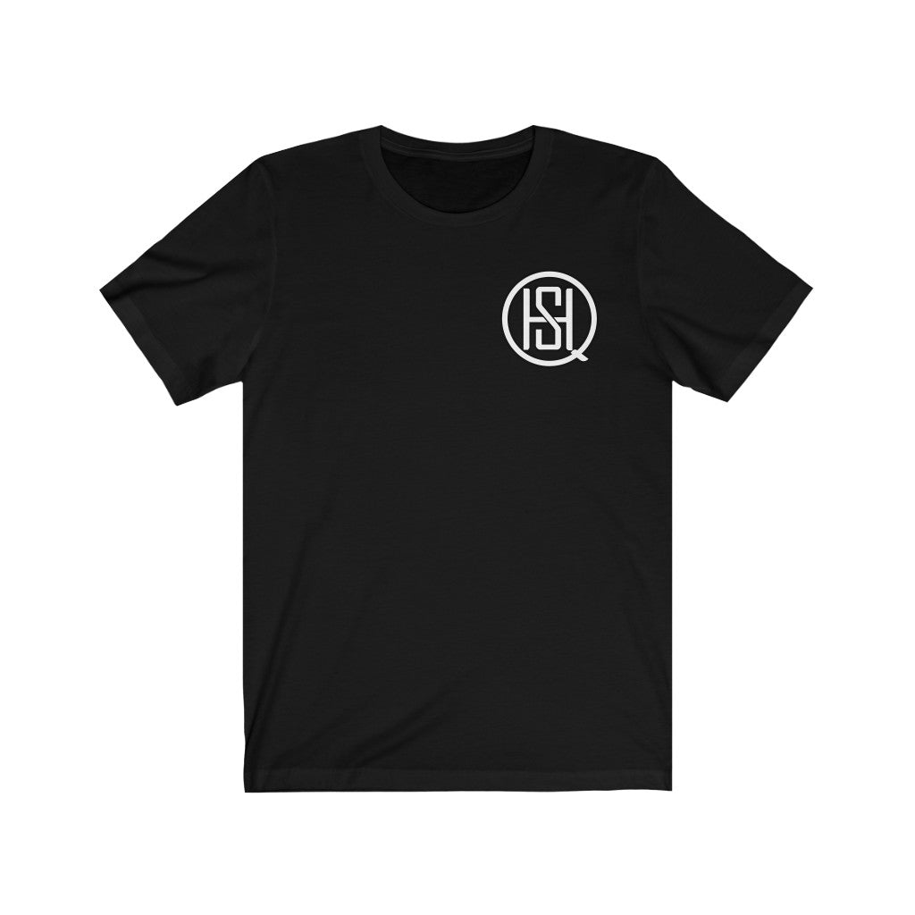Custom SHQ White Small logo Short Sleeve Tee