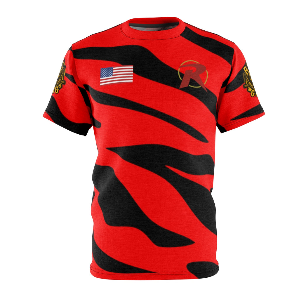 Preston4 Custom Red Stripe Jersey