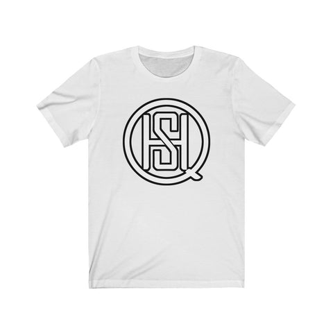 Custom SHQ White Big Logo Short Sleeve Tee